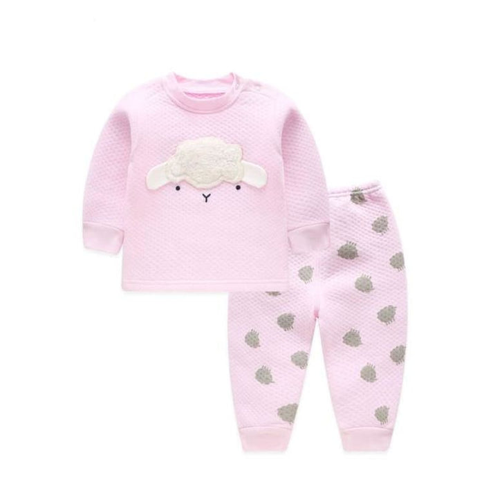 Unisex Baby Clothing Set - Cotton - BTZY02 pink / 6M - Clothing Set