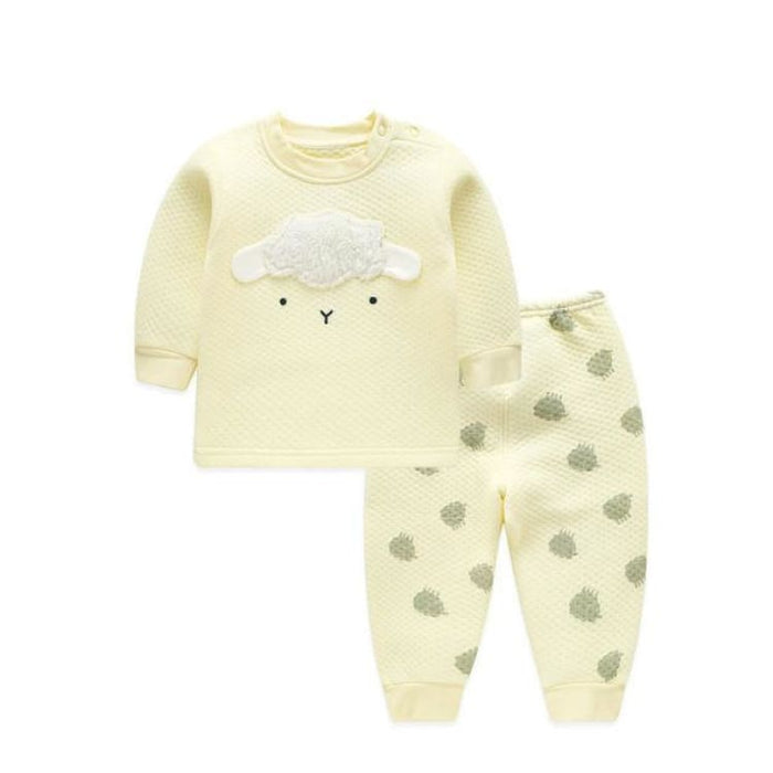 Unisex Baby Clothing Set - Cotton - BTZY02 yellow / 6M - Clothing Set
