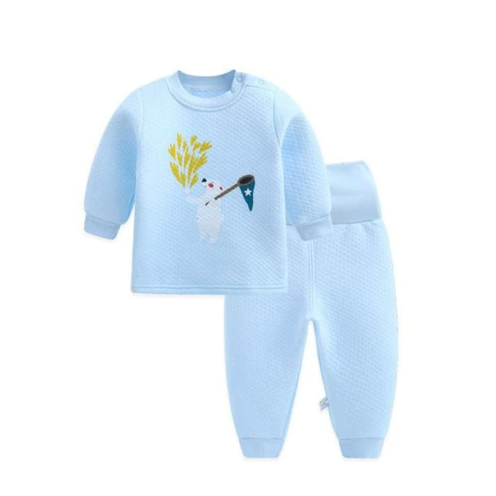 Unisex Baby Clothing Set - Cotton - BTZZ02 blue / 6M - Clothing Set