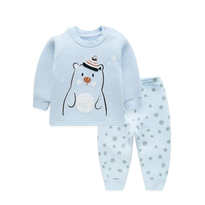 Unisex Baby Clothing Set - Cotton - BTZZ03 blue / 6M - Clothing Set