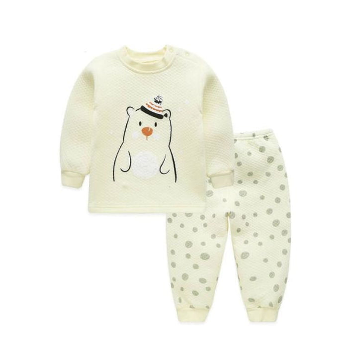 Unisex Baby Clothing Set - Cotton - BTZZ03 yellow / 6M - Clothing Set