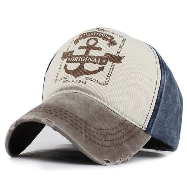 Unisex Baseball Caps Pirate Ship Anchor - Gray / Adjustable - Baseball Cap