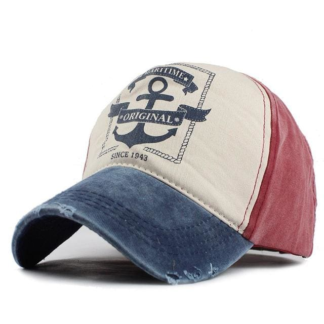Unisex Baseball Caps Pirate Ship Anchor - Navy / Adjustable - Baseball Cap