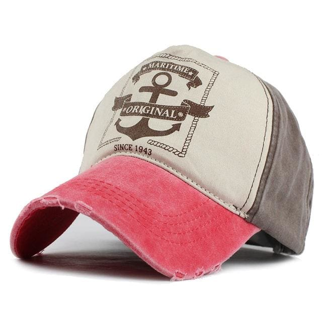 Unisex Baseball Caps Pirate Ship Anchor - pink / Adjustable - Baseball Cap