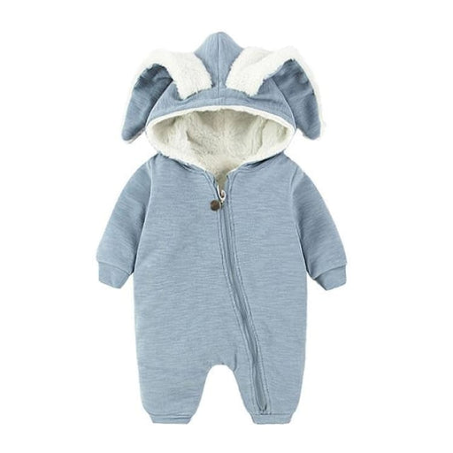 Unisex Cute Autumn Baby Romper - winter blue / 3M - Romper