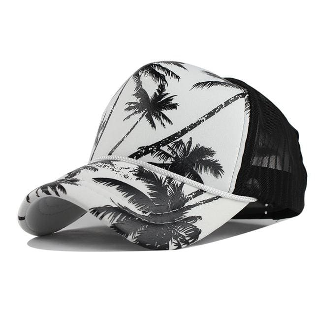 Unisex Hawaii Baseball Caps - Black Coconut tree / Adjustable - Baseball Caps