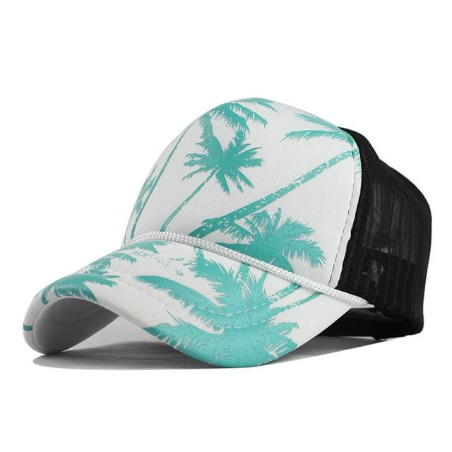 Unisex Hawaii Baseball Caps - Blue Coconut tree / Adjustable - Baseball Caps