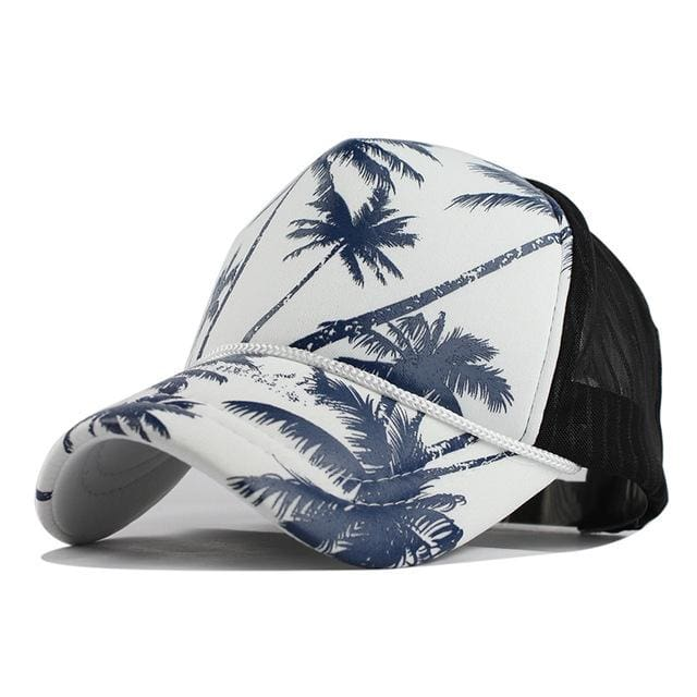 Unisex Hawaii Baseball Caps - Navy Coconut tree / Adjustable - Baseball Caps