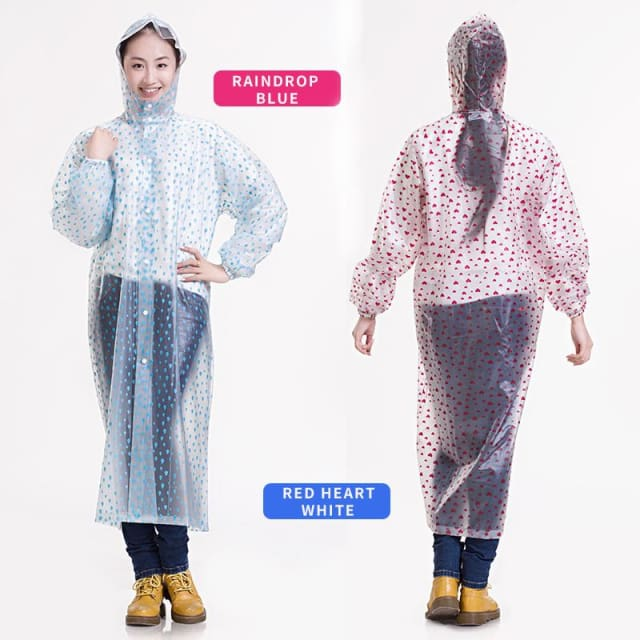 Unisex Rain Coat Lace Raincoat Light Plastic - Raincoat