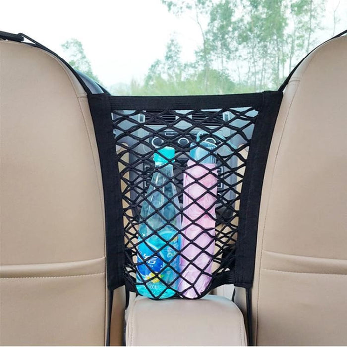 Universal Elastic Mesh Net Bag Between Car Organizer - Stowing Tidying