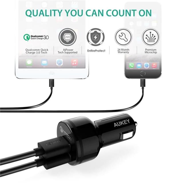 USB Car Quick Charger QC3.0 36 For Android IOS ( Samsung Iphone LG Sony Note HTC...) - Mobile Phone Chargers