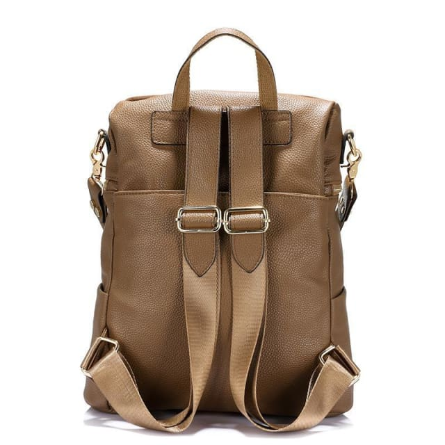 Vintage women backpack nubuck leather+PU school backpacks for teenage girls casual large capacity shoulder bags 2018 - Backpacks
