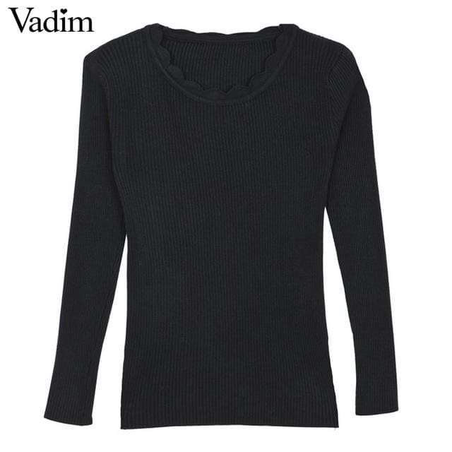 Warm Pullover For Women - Black / One Size - Pullovers