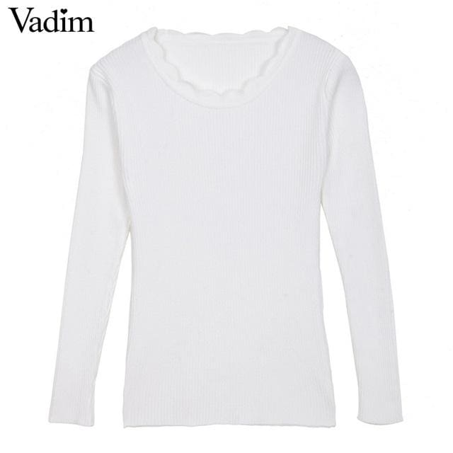 Warm Pullover For Women - White / One Size - Pullovers