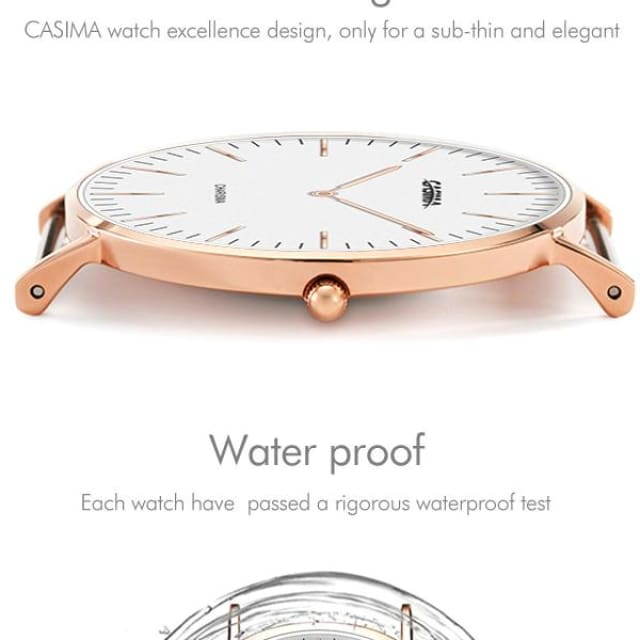 Watch Waterproof Quartz Watches for Men and Women Watchband Elegant Watches lovers - Quartz