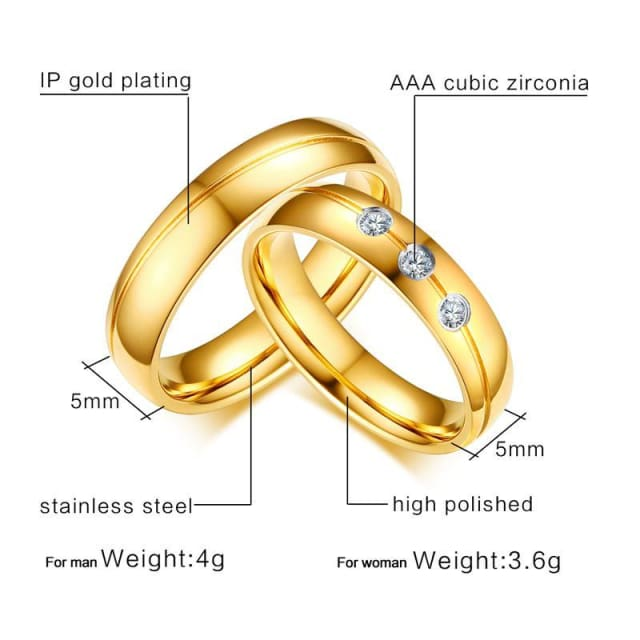 Wedding Love Ring For Men / Women - Ring