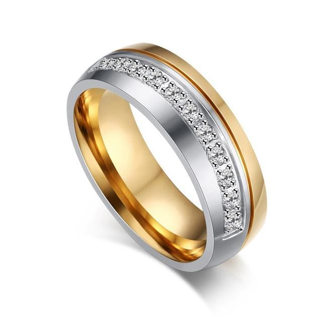 Wedding Ring for Women / Men Gold Color Engagement ring for Couple 2018 - 11 / 1 piece for women - Ring