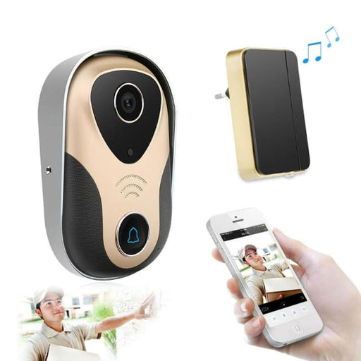 Wifi Doorbell 720P Wireless Wired Video Door Phone Intercom Night Vision Motion Detection Remote Control wifi - Doorbell