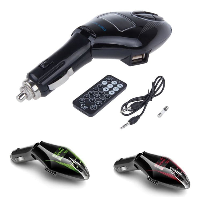 Wireless FM Transmitter Car Mp3 Player With Remote Control - 3 Colors - FM Transmitters