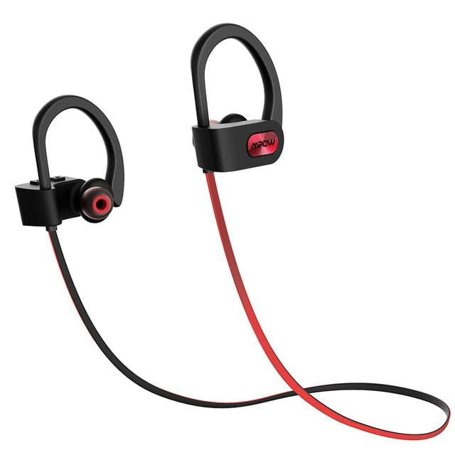 Wireless Headphone Bluetooth V4.1 Noise Canceling - Line Outside Red / China - Earphone