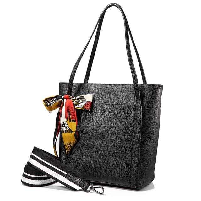 Women handbag 2018 shoulder bags female messenger bag large capacity ladies casual tote bags high quality with bows Black - Black / China /