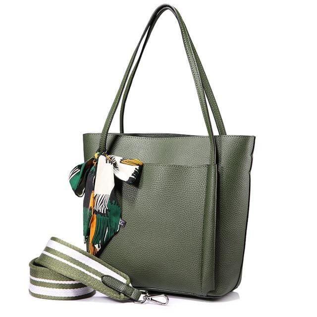 Women handbag 2018 shoulder bags female messenger bag large capacity ladies casual tote bags high quality with bows Black - Dark Green /