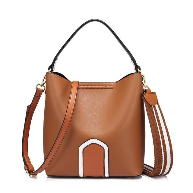 Women handbag high quality PU female shoulder crossbody bag retro messenger bags for women 2018 tote famous brands - Brown / China /