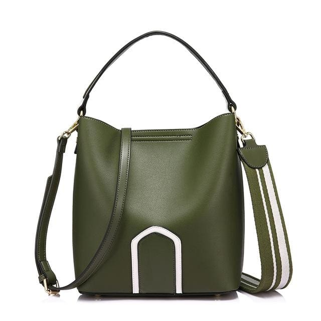 Women handbag high quality PU female shoulder crossbody bag retro messenger bags for women 2018 tote famous brands - Green / China /