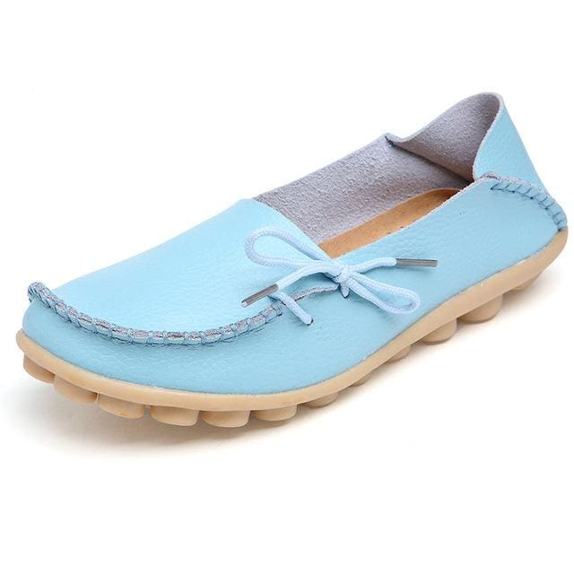 Women Shoes 2017 Spring Fashion - Sky Blue / 5
