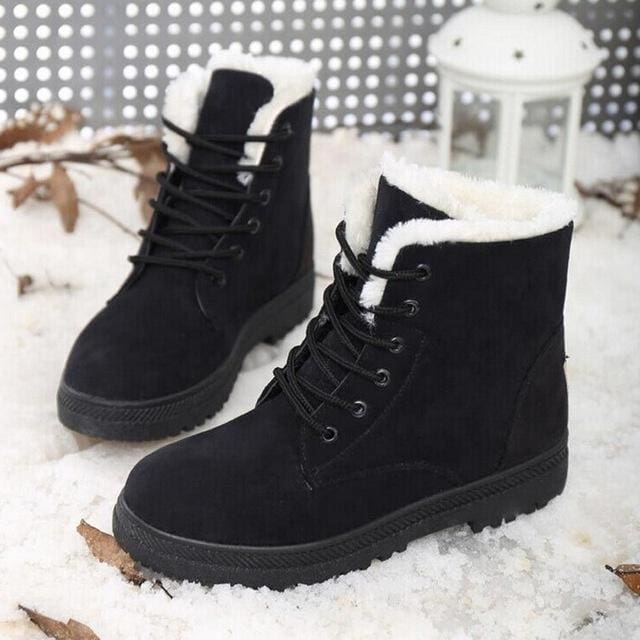 women shoes fashion heels winter boots - Black / 5
