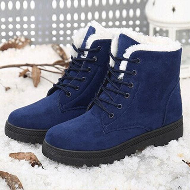 women shoes fashion heels winter boots - Blue / 5