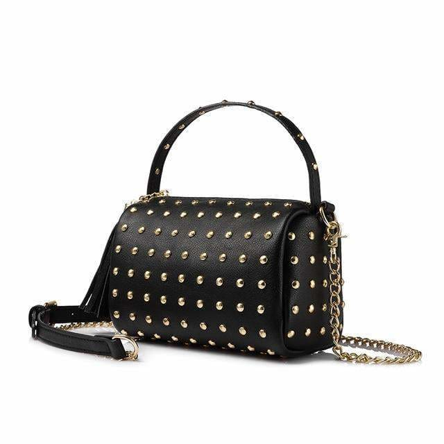 Women shoulder bag 2018 small handbag purse with rivets female crossbody bags mini clutch ladies messenger bags - Black / China / Mini(Max