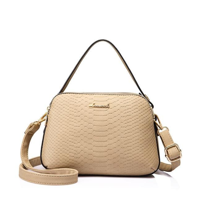Women shoulder bag high quality female small messenger bag flap ladies crossbody bag 2018 with thread - Apricot / China / (20cm<Max