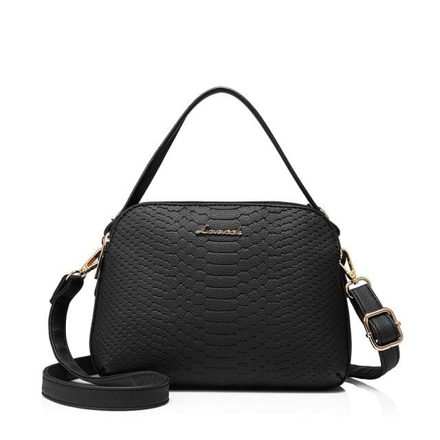 Women shoulder bag high quality female small messenger bag flap ladies crossbody bag 2018 with thread - Black / China / (20cm<Max