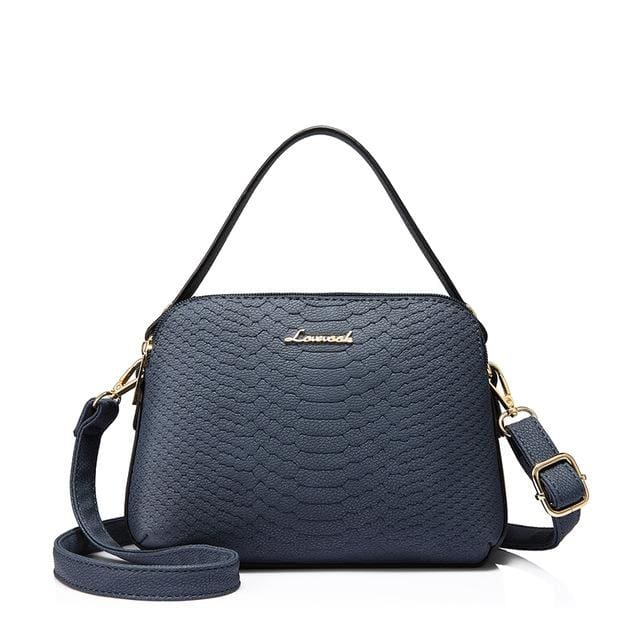 Women shoulder bag high quality female small messenger bag flap ladies crossbody bag 2018 with thread - Deep Blue / China / (20cm<Max
