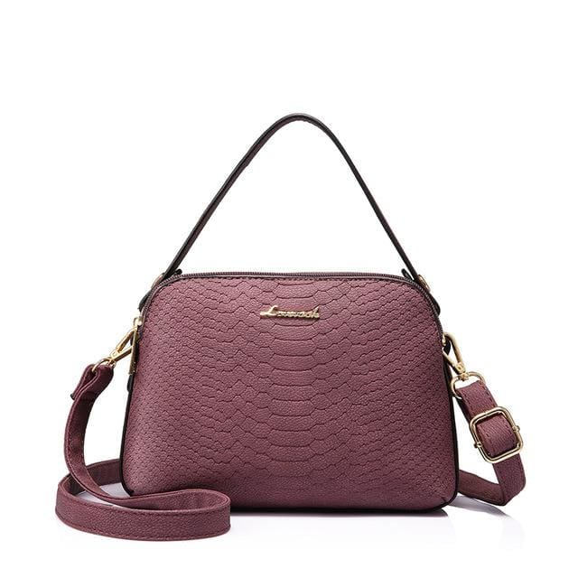 Women shoulder bag high quality female small messenger bag flap ladies crossbody bag 2018 with thread - Purple / China / (20cm<Max