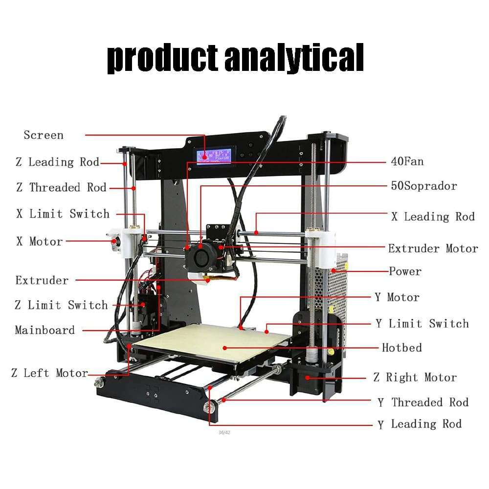 A8 A6 A2 High Precision Desktop 3D Printer