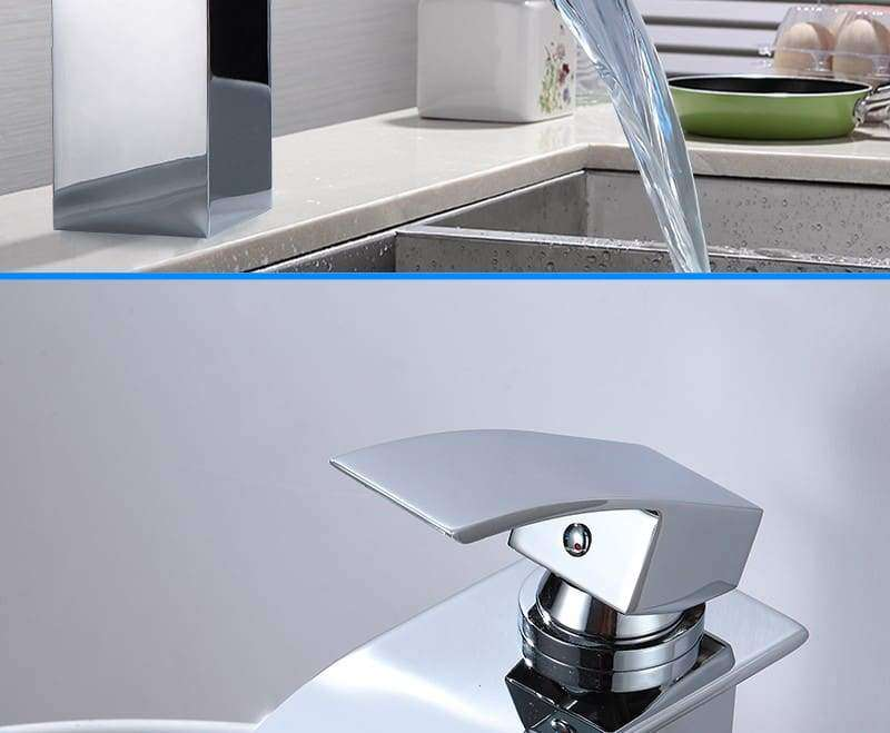 Chrome Waterfall Sink Faucet