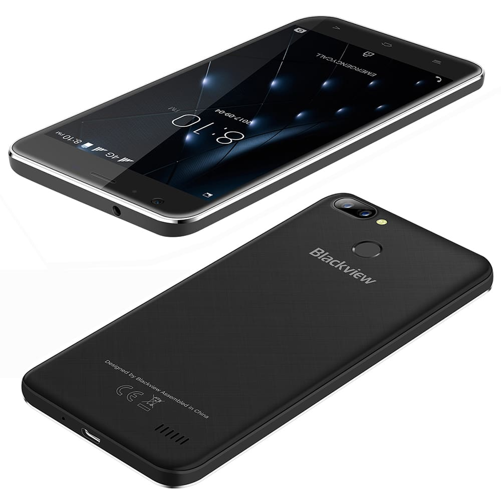 Blackview A7 Pro Smartphone Android 7 0 MTK6737 Quad core 5 0inch HD 4G  Mobile phone 2GB+16GB Dual Rear Camera GPS Fingerprint