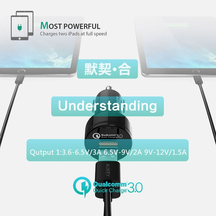 USB Car Quick Charger QC3.0 36 For Android IOS ( Samsung Iphone LG Sony Note HTC...)