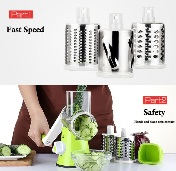 Multi-functional vegetable grate 1