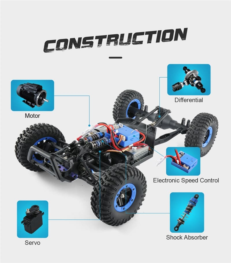Q46 1/12 2.4G 4CH High Speed Off Road Buggy Crawler 45km/h RC Car
