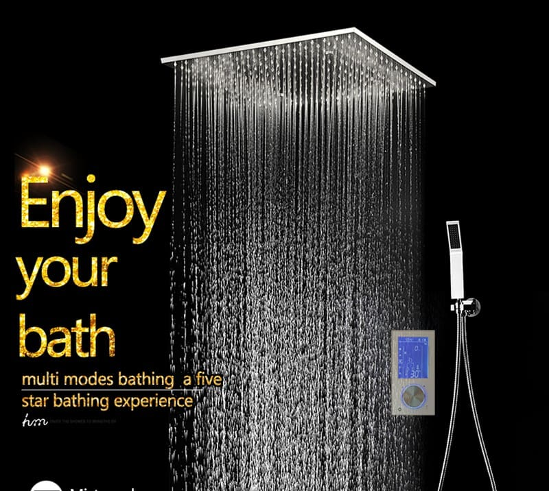 Bathroom Shower Head with 3 Ways Intelligent Digital Concealed Faucet 20 SPA Mist Rainfall Thermostatic Set Touch Panel Mixer (4)