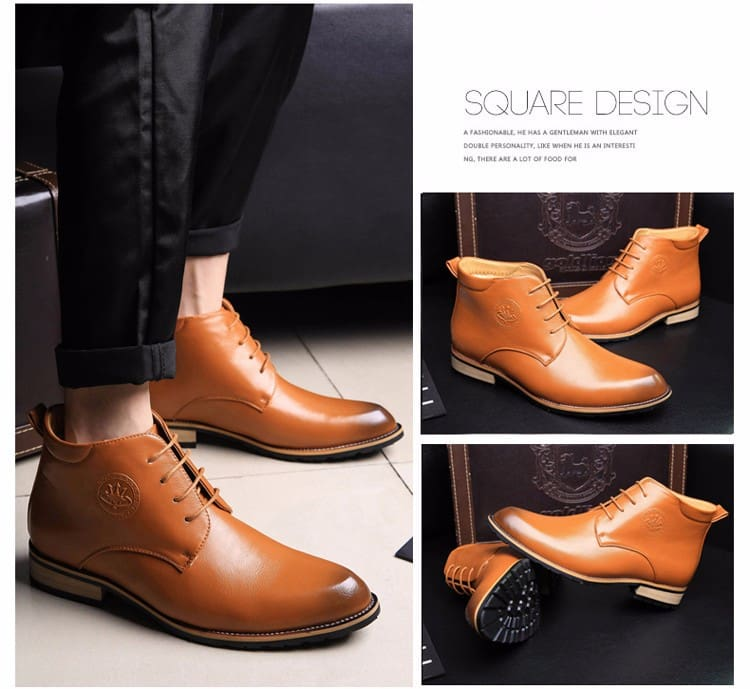 Cowboy boots for men genuine leather