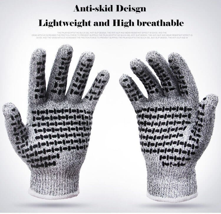 Professional Anti-cut gloves CE Standard Level 5 Cut resistant Non-slip Safety Gloves Multi-function For Working Home Kitchen (8)