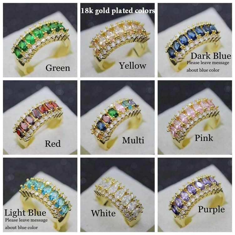 1 18k gold plated colors