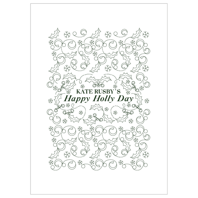 2020 Happy Holly Day Tea Towel, In Stock