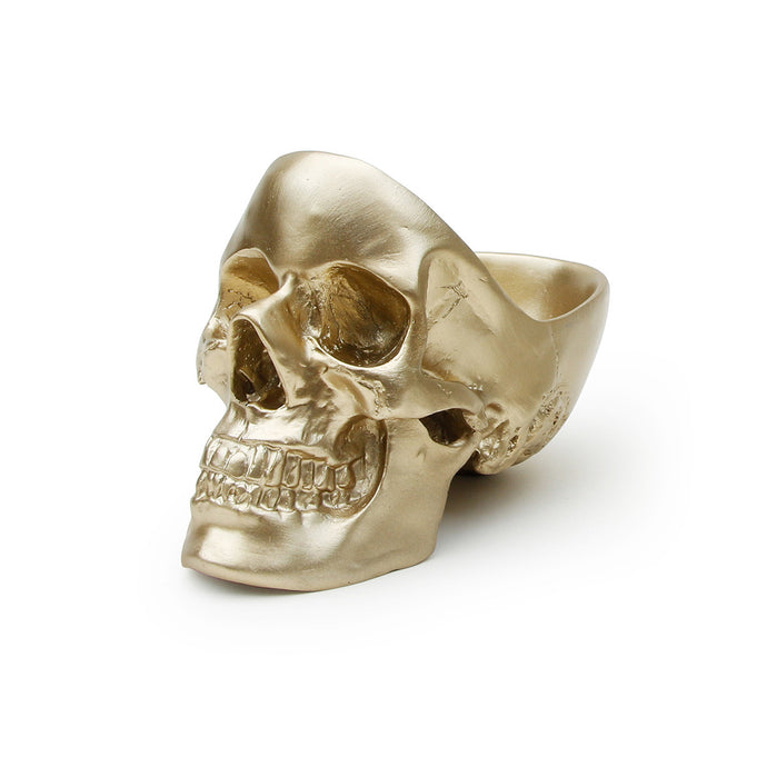 Skull Tidy Decorative Bowl- Gold
