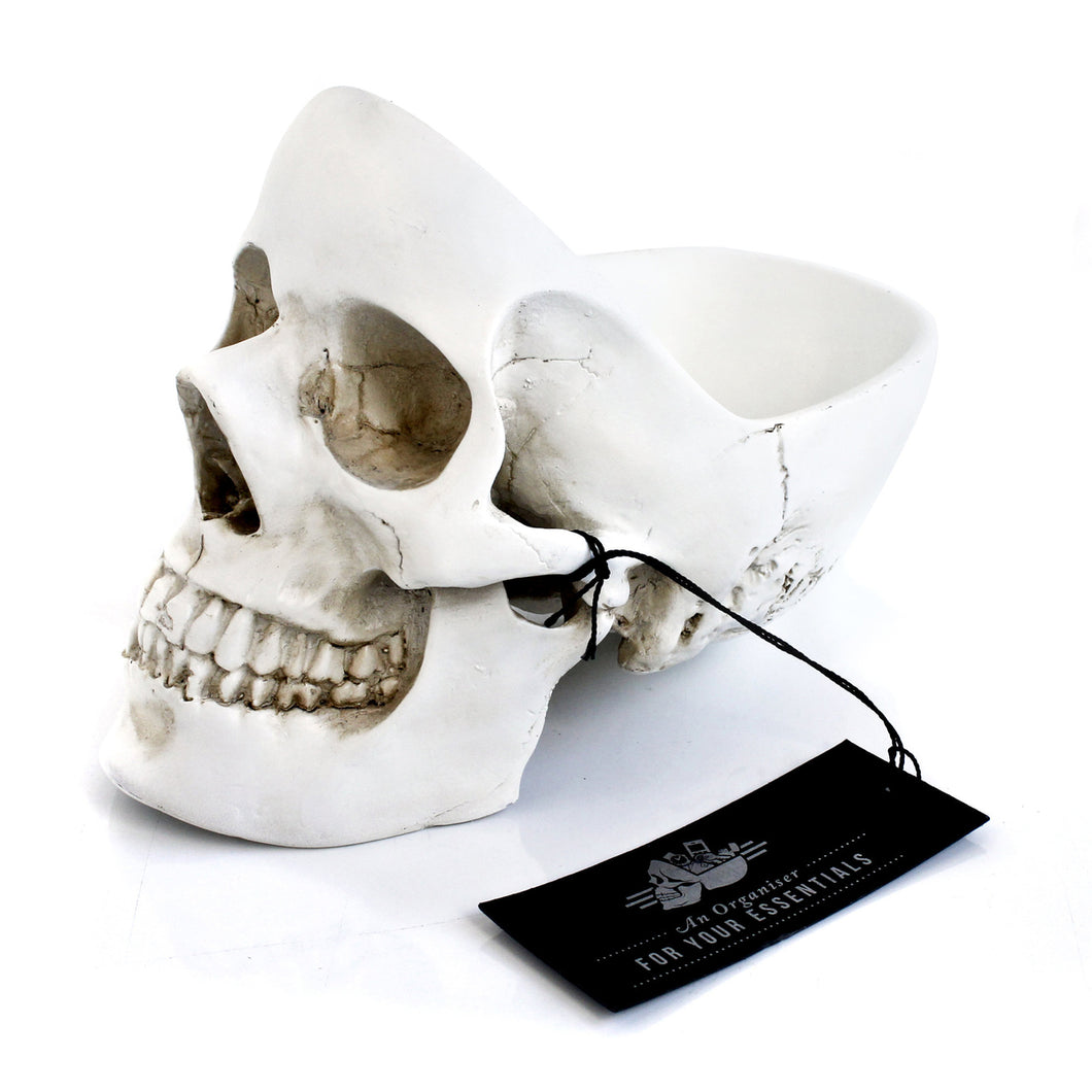 Skull Tidy Decorative Bowl- White