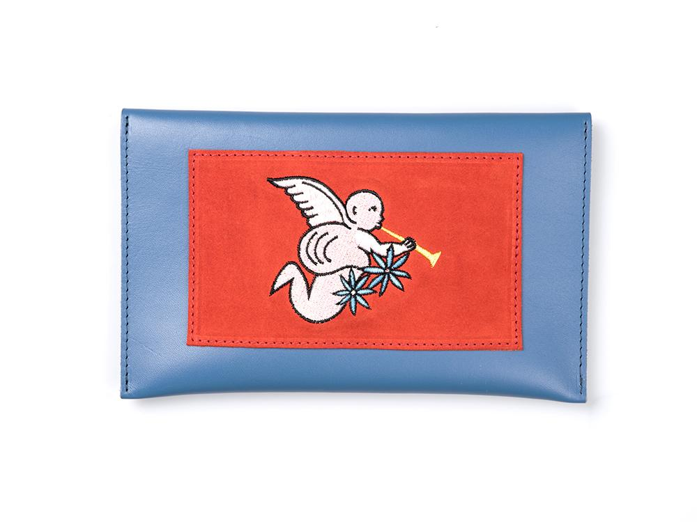 Bichon Pocket- Cupid Red on Blue